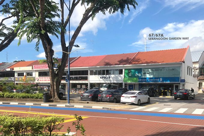 Read more about the article Commercial two-storey shophouse at Serangoon Garden Way up for sale